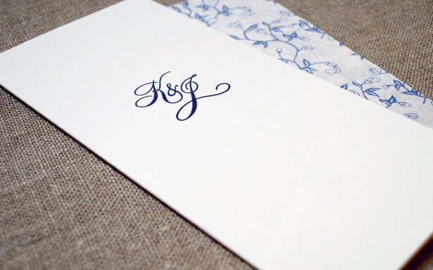 Simple classic wedding invitations
