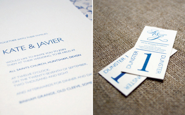 Simple classic wedding stationery